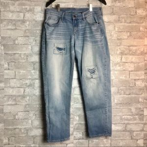 Old Navy Boyfriend Highrise Distress Patched Jeans